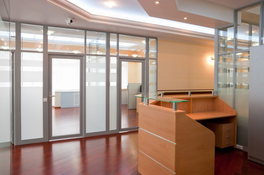 Modern office interior - reception and working places